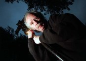"LS.Carpenter.2.1002.GW––10/2/98: John Carpenter, maker of the ""Halloween"" series of films, talks about how he would throw the ultimate Halloween party.Photo/Art by:George Wilhelm"
