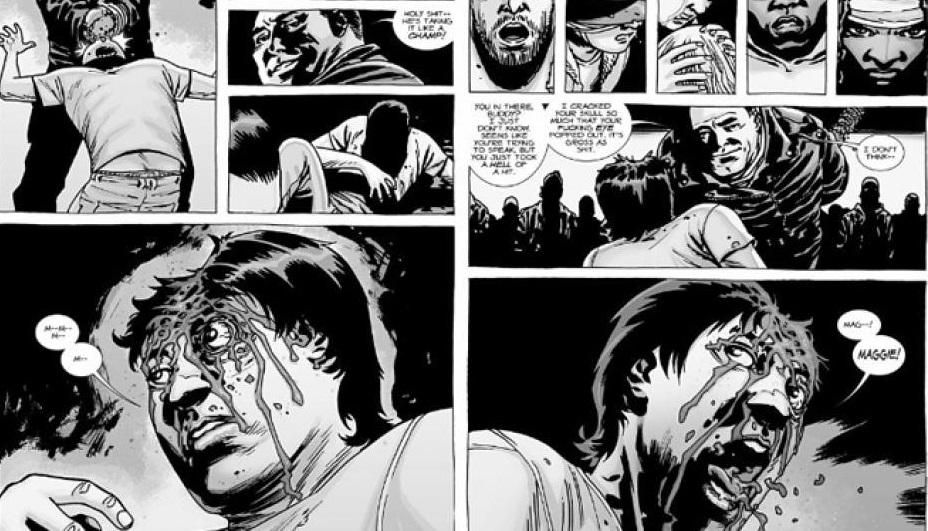 Glenn's death in The Walking Dead Season 7