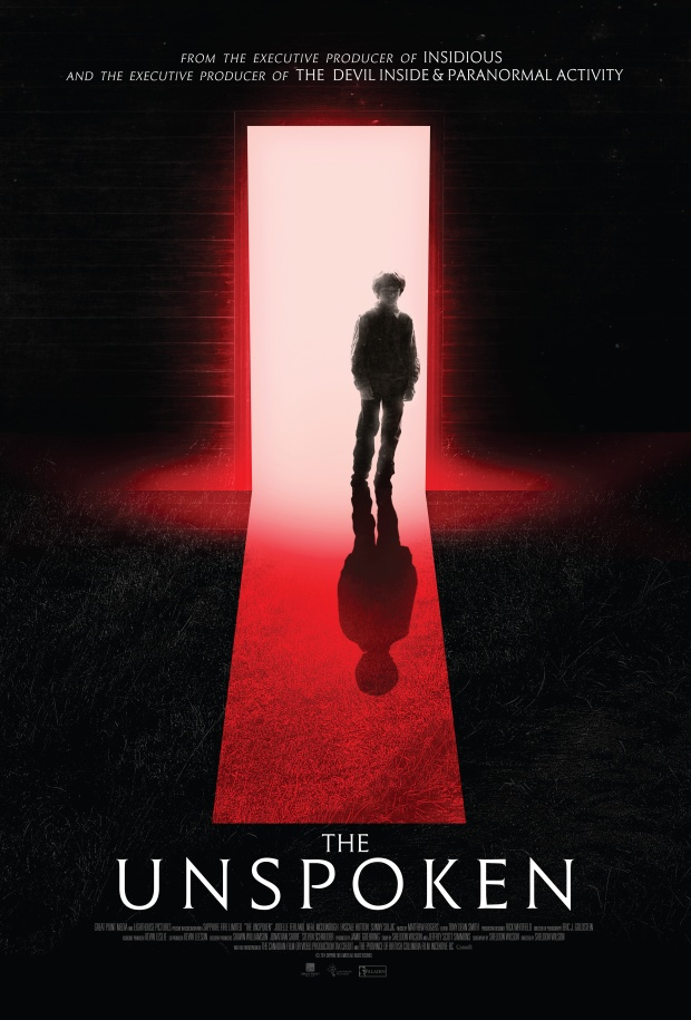 poster for the horror movie The Unspoken