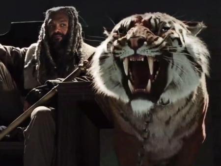 The Walking Dead's Ezekial and Shiva and