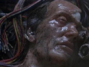 behind the scenes image of Bishop from Alien 3