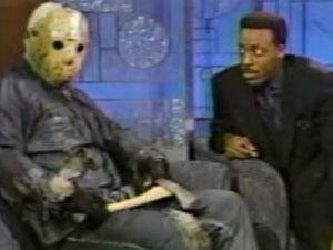 Jason Voorhees and Arsenio Hall