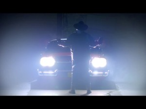 John Carpenter in his new music video for Christine
